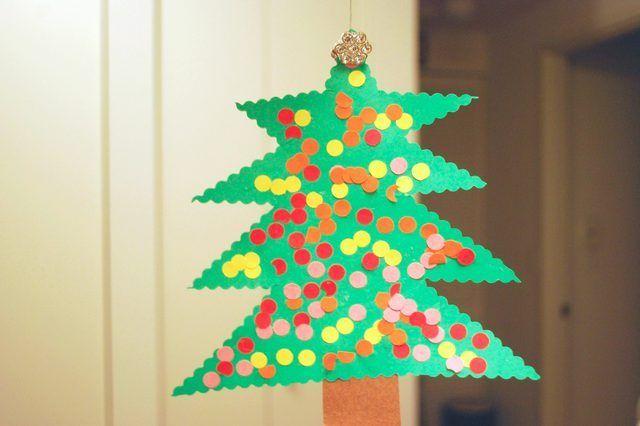 Construction maison papier Décorations de Noël